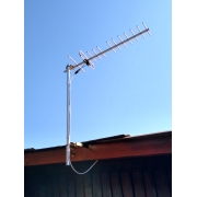 Antena tv hd uhf mas kit / mastil / cable coaxial